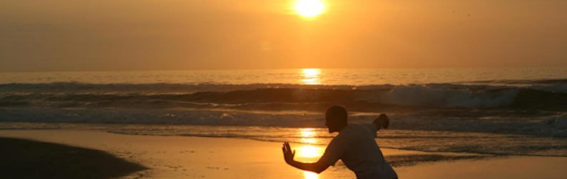 Tai Chi on the beach